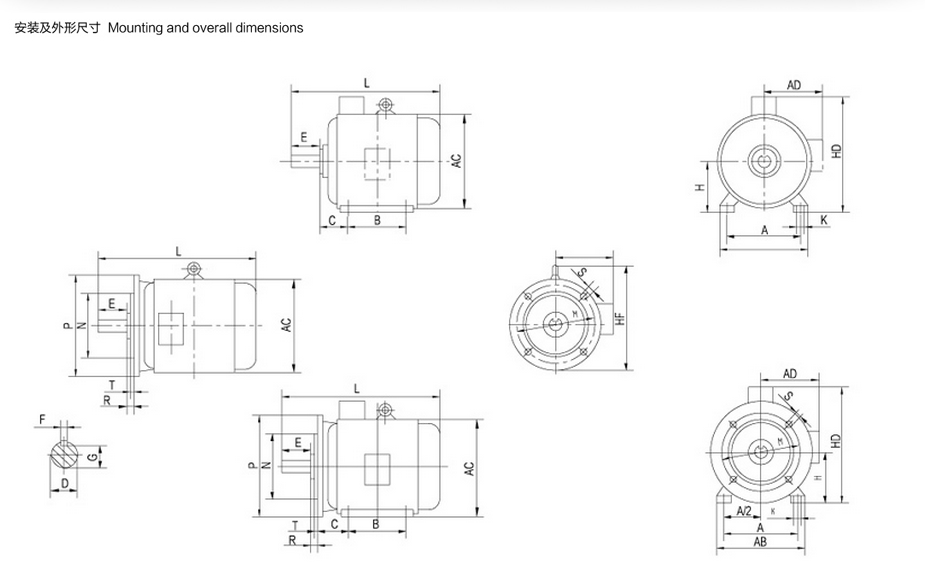 ye2 series three phase asynchronous motor